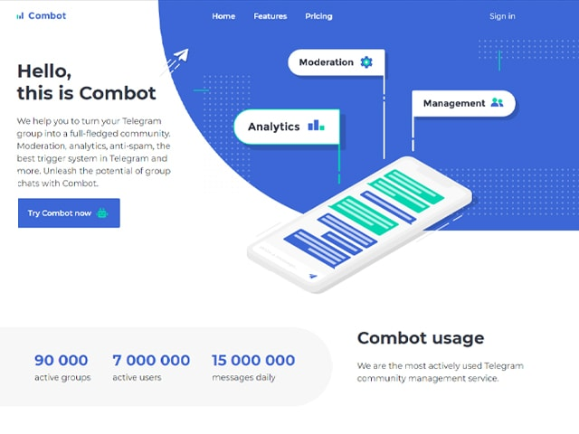 combot website view