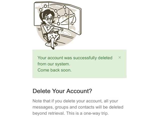 you'r telegram account deleted
